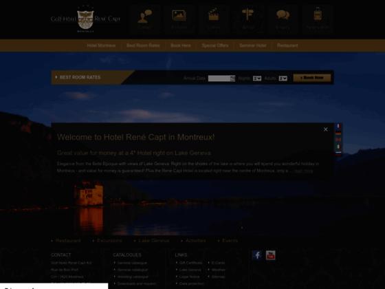 Hotel Montreux, Réservation Hotel, Montreux Hotels, Golf Hotel René Capt in Montreux -