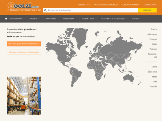 Goolzi b2b plateforme