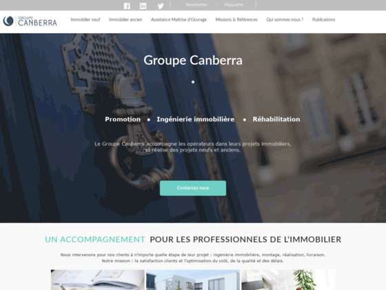 Groupe Canberra, management immobilier