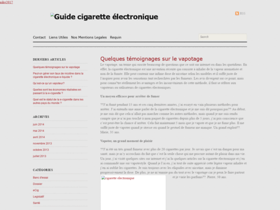 Guide de la cigarette électronique