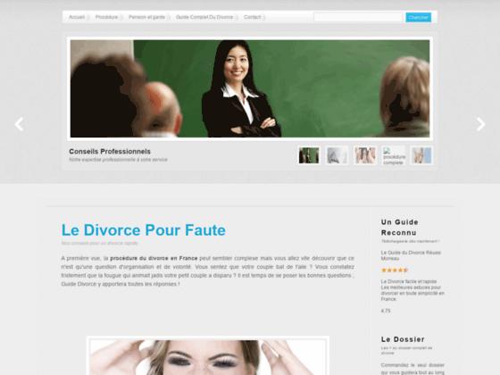 Le Divorce Pour Faute sur Guide-Divorce.fr