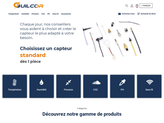 Guilcor - bilames et thermistances
