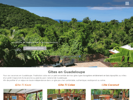 Location gite Guadeloupe