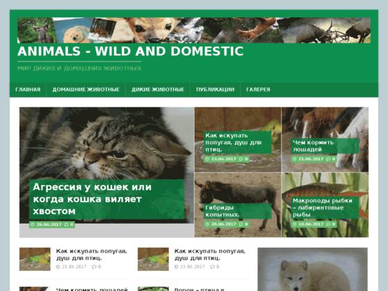 Скриншот сайта haustiere.ru