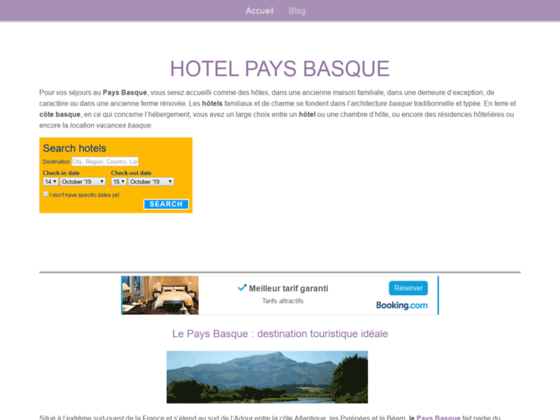 hotels pays basque pas cher