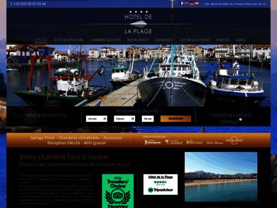 Hôtel de la Plage 3 étoiles à Saint jean de Luz au pays basque