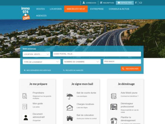 Immo974 - annonces immobilières île de la Réunion
