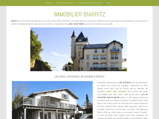 Immobilier Biarritz : immobilier prestige