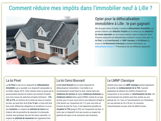 Immobilier neuf lille