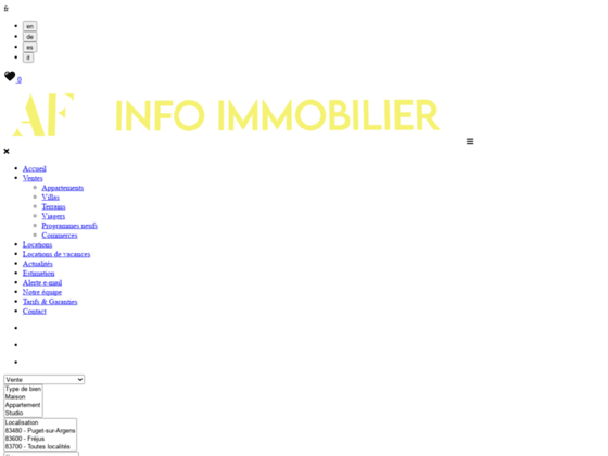 Agence immobilière AF INFO-IMMOBILIER