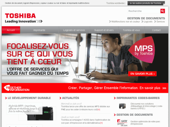 Toshiba GED, gestion électronique de documents
