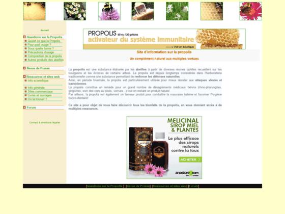 Site d'information sur la propolis