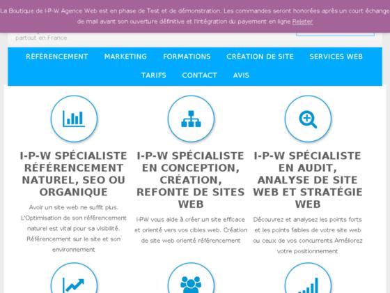 I - P - W Référencement et Projet Internet retour sur investissement  Intergration Projet Web