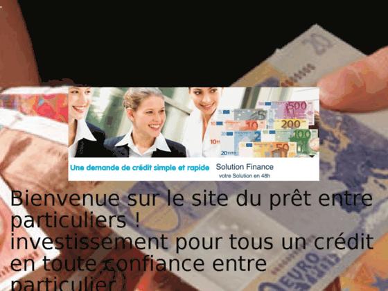 investissement pour tous Leader du crédit entre particuliers - Site de investissement-pour-tous !