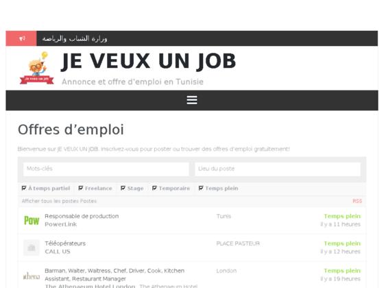 je veux un job - site d'emploi tunisien
