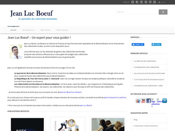 Jean Luc Boeuf  - Expert en gestion des collectivités locales !