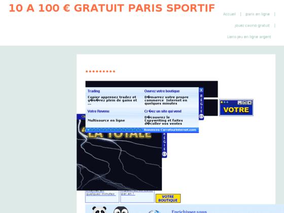 50 EURO OFFERT SITE DE PARIS SPORTIF