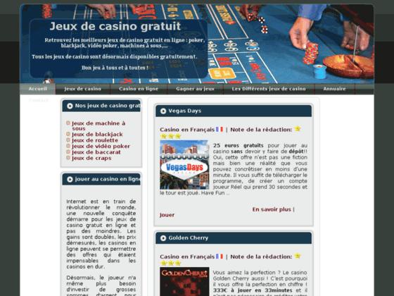 jeux de casino gratuit