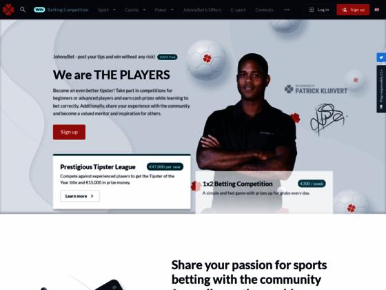Скриншот сайта johnnybet.com