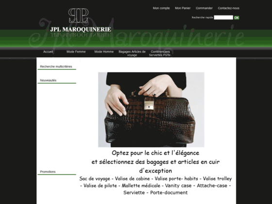 JPL Maroquinerie bagages en cuir et maroquinerie de luxe