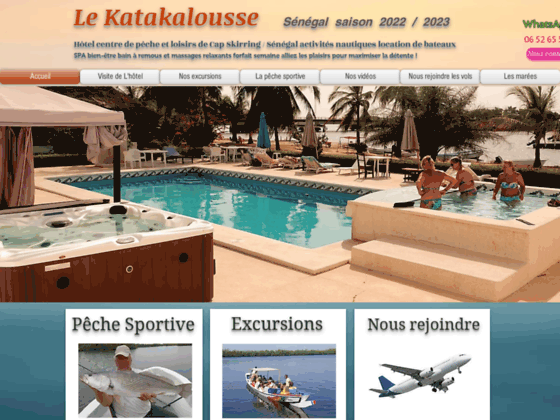 Centre de pêche excursions Sénégal Hotel KATAKALOUSSE Cap Skirring