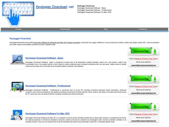 Keylogger download for keyboard keystroke and internet activity monitoring