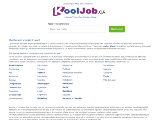 Offre d emploi à Laval