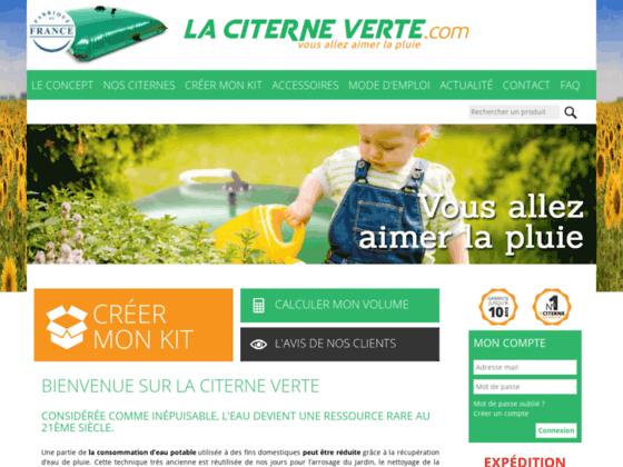 Citerne souple récupérateur d'eau de pluie écologique économique La Citerne Verte