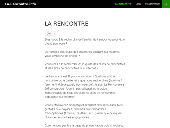 La-Rencontre.info