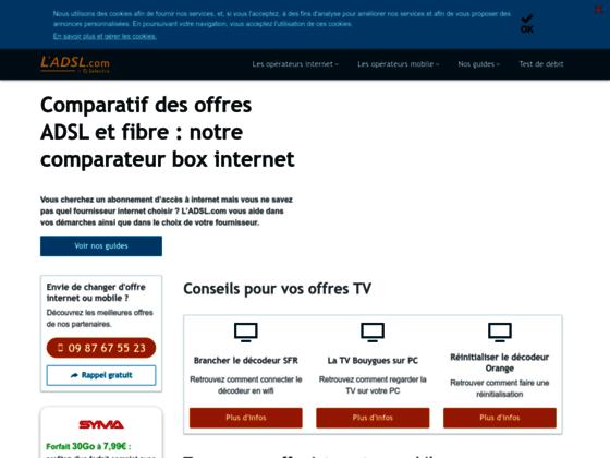 Offres ADSL et fibre optique aux meilleurs prix