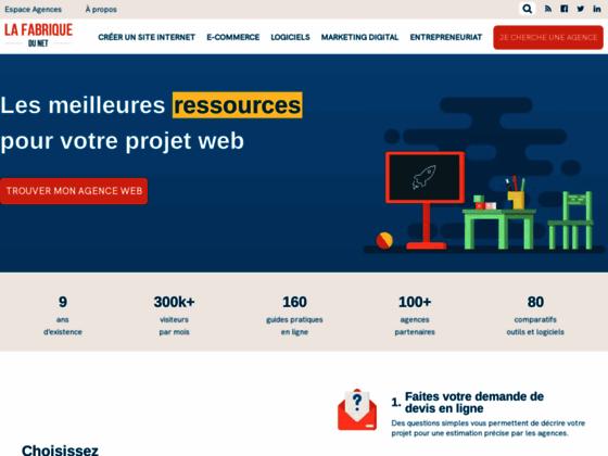 La Fabrique du Net - Devis création site web