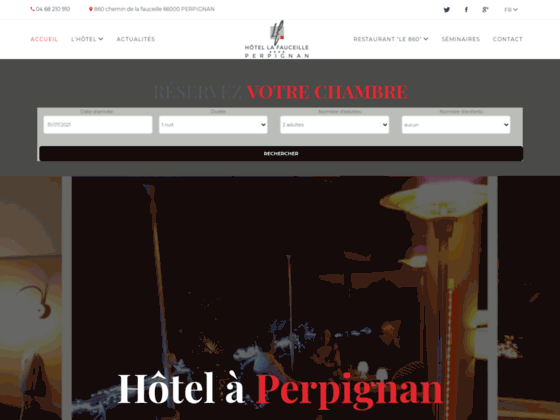 Hotel Perpignan La Fauceille **** Hôtel Pyrenees Orientales - Hotels Cabestany - 66