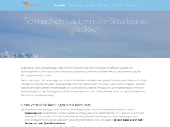 last minute ski