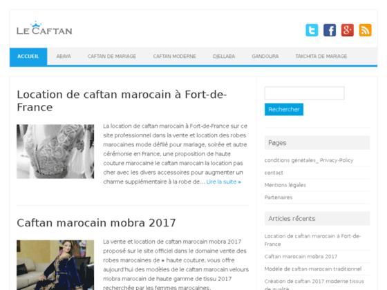 vente caftan marocain en ligne