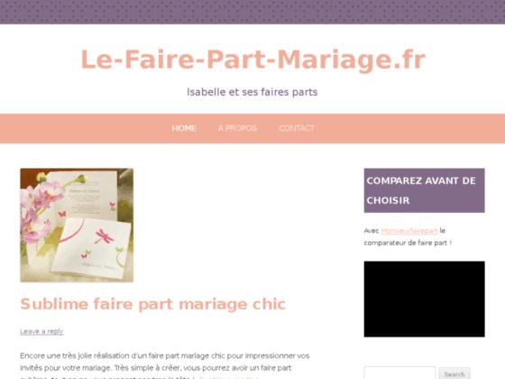 Le Faire Part Mariage