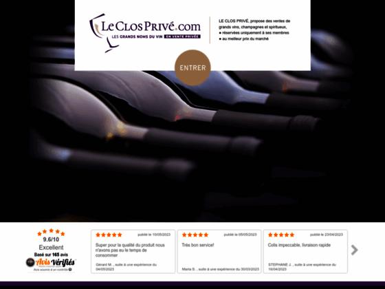 Vente de vin en ligne sur Leclos Privé