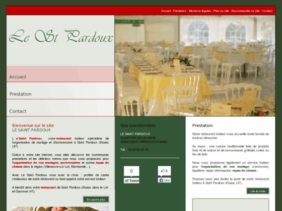 LE SAINT PARDOUX restaurant  à Lot-Et-Garonne