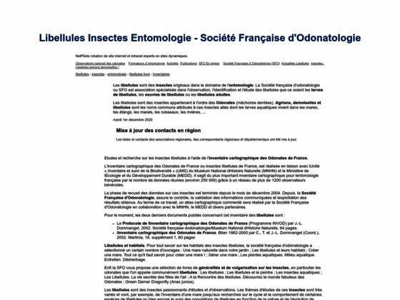 SFO Société Française d'Odonatologie Libellules