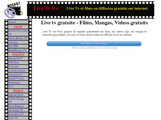 Live tv go - Webtv gratuite
