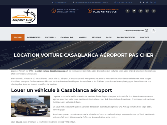 Location voitures et 4x4 a Casablanca aeroport Mohammed V moins cher