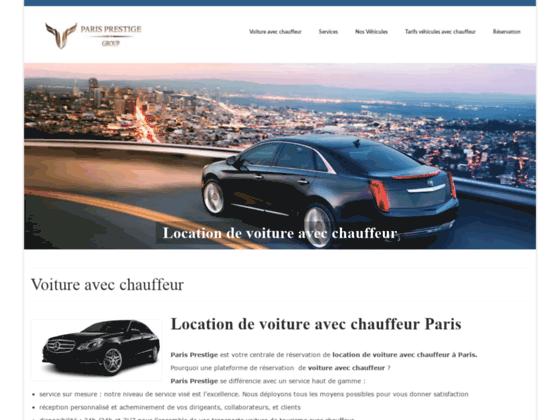 Location de voiture avec chauffeur Paris