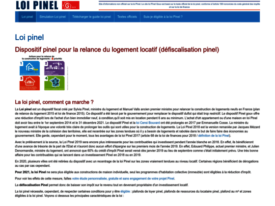Loi Pinel site officiel