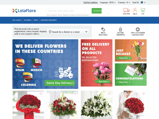 Скриншот сайта www.lolaflora.ru