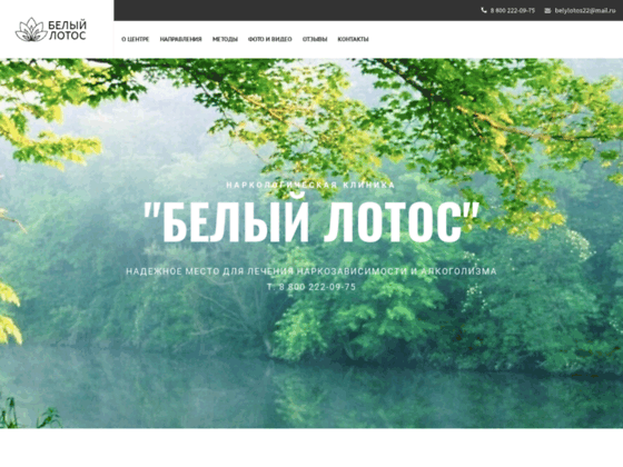 Скриншот сайта www.lotos-clinik.ru