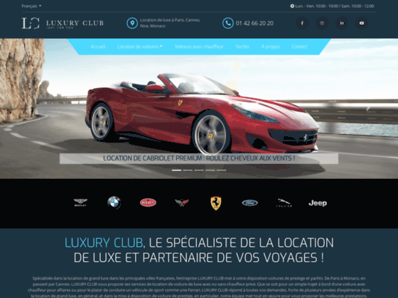 location voiture luxe