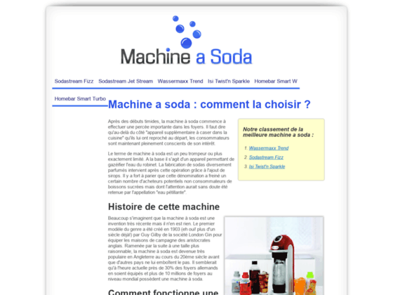 La machine à soda : Guide d'achat