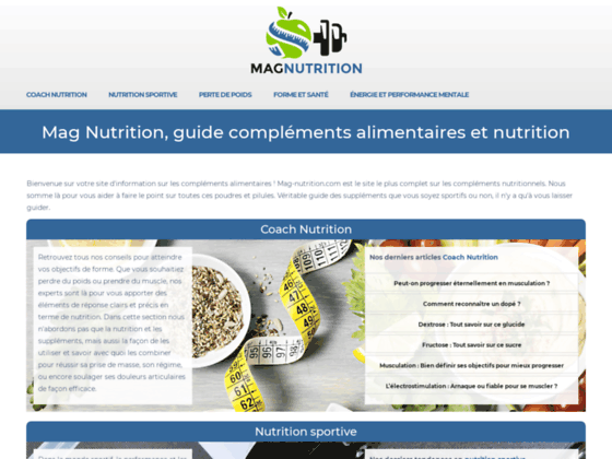 Mag-nutrition le magazine de la nutrition et des supplements