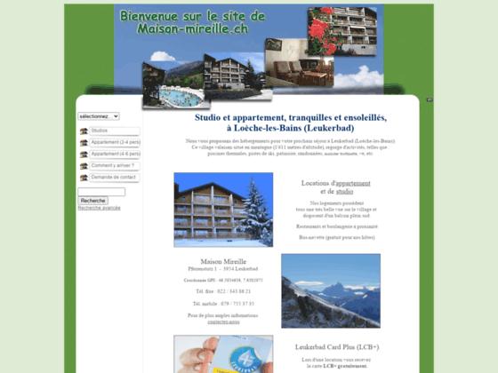 Vacances à la montagne en Suisse - Maison Mireille