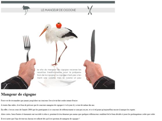 Mangeur de cigogne