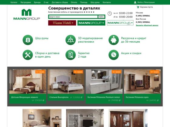 Скриншот сайта manngroup-trade.ru